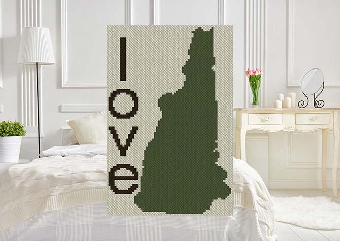 New Hampshire Love C2C Afghan Crochet Pattern