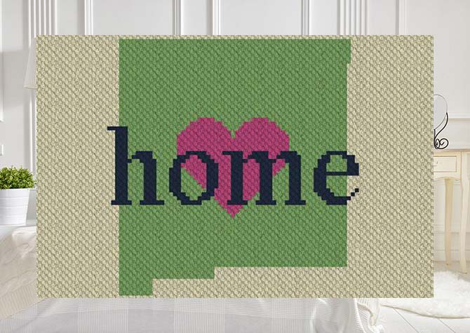 New Mexico Home C2C Crochet Pattern