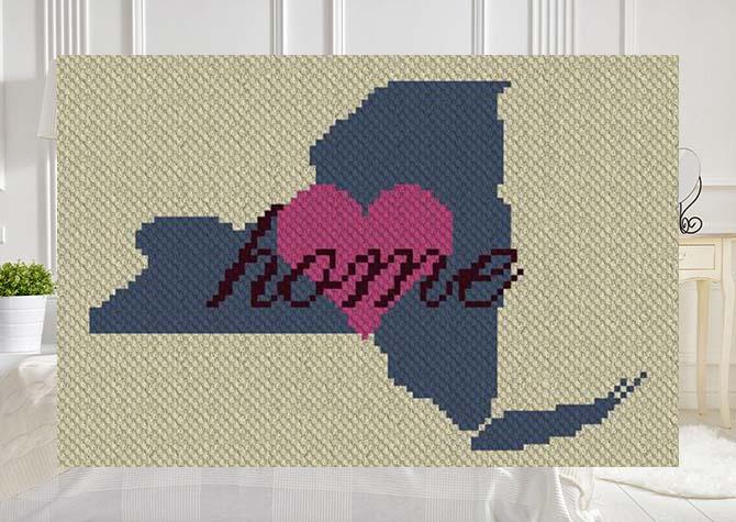 New York Home C2C Crochet Pattern