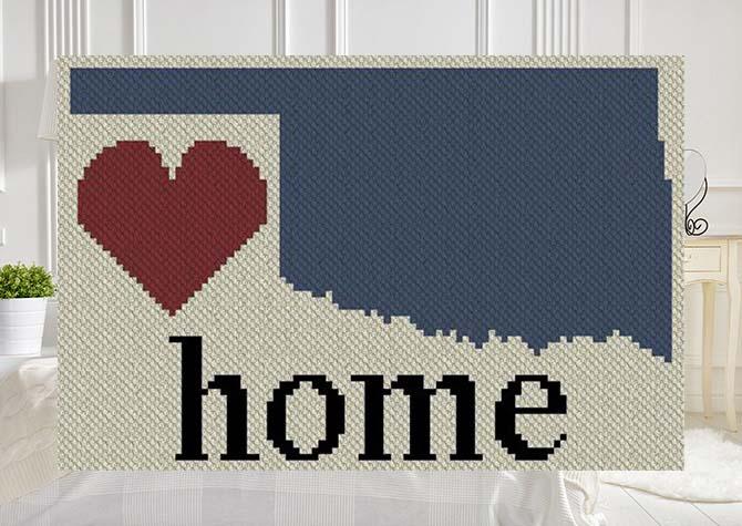 Oklahoma Home C2C Afghan Crochet Pattern