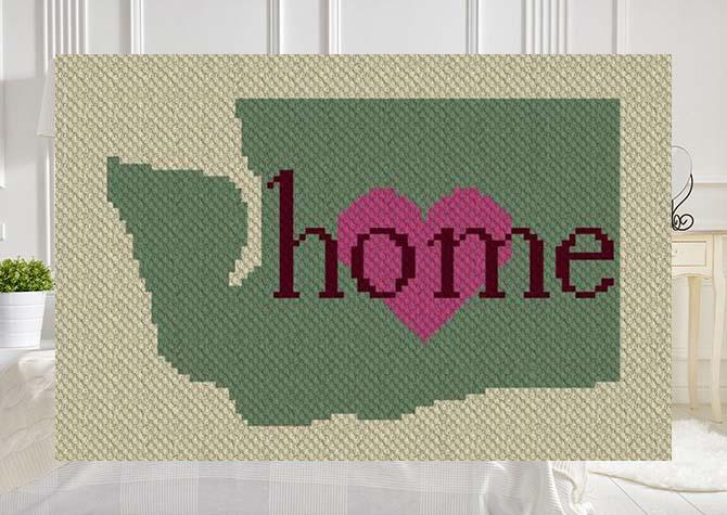 Washington Home C2C Crochet Pattern