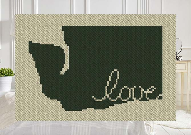 Washington Love C2C Crochet Pattern