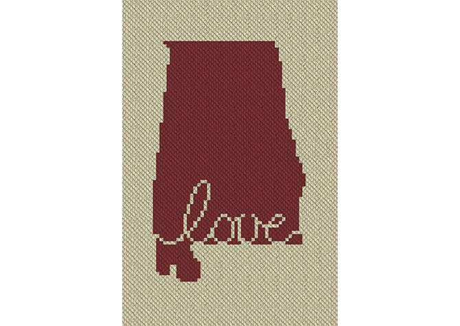 Alabama Love C2C Crochet Pattern