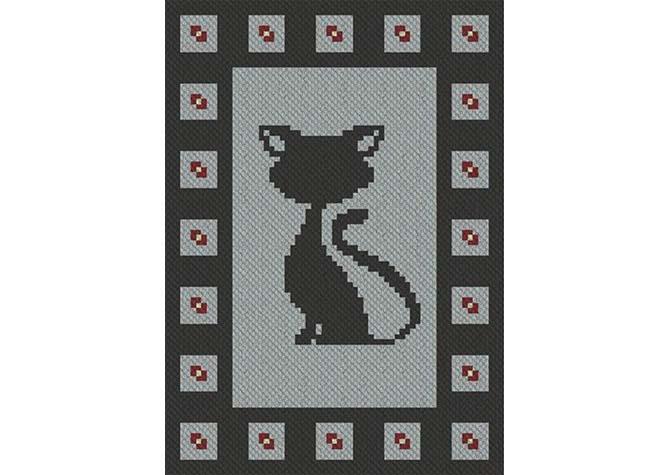 Blackjack C2C Afghan Crochet Pattern