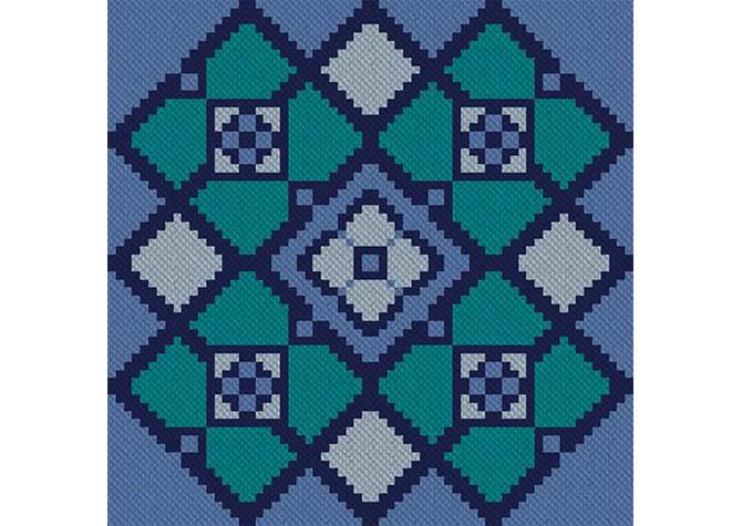 Blue Lake C2C Afghan Crochet Pattern