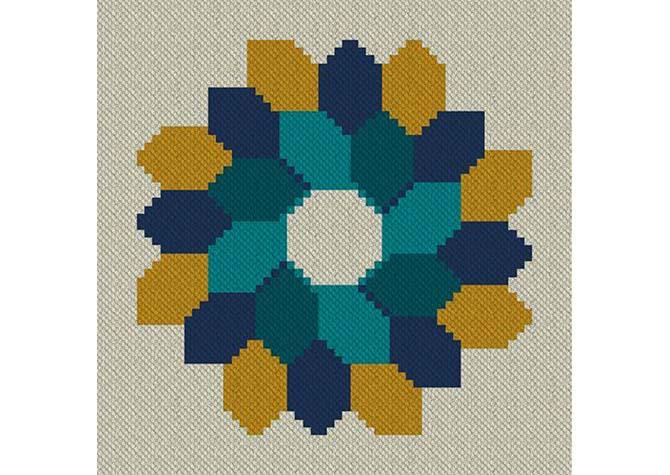 Fall Festoon C2C Lapghan Crochet Pattern