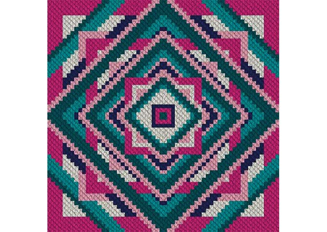 Fit to be Squared C2C Crochet Pattern