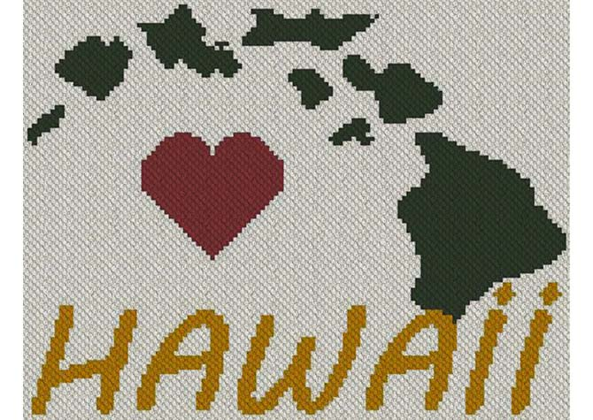 Heart Hawaii C2C Afghan Crochet Pattern