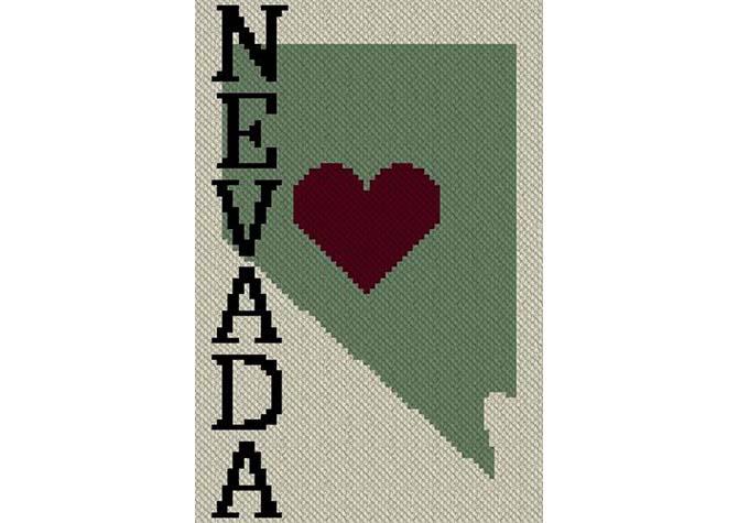 Heart Nevada C2C Crochet Pattern
