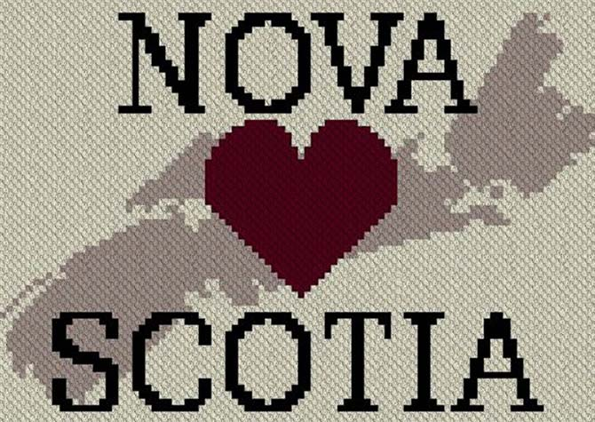 Heart Nova Scotia C2C Afghan Crochet Pattern