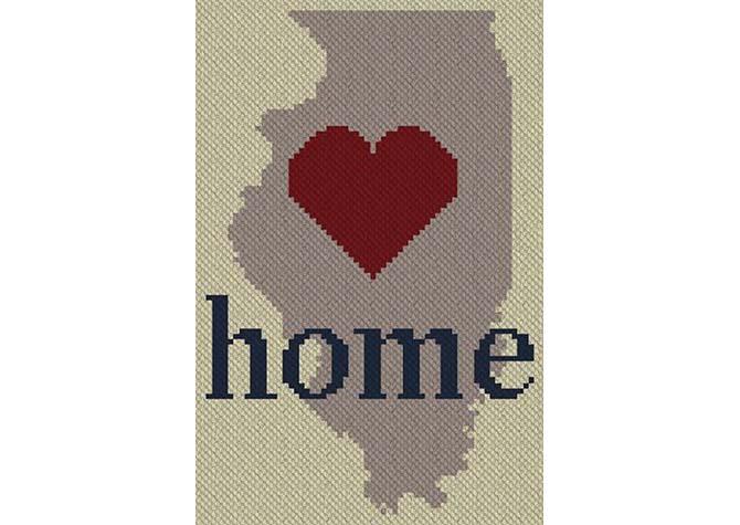 Illinois Home C2C Afghan Crochet Pattern