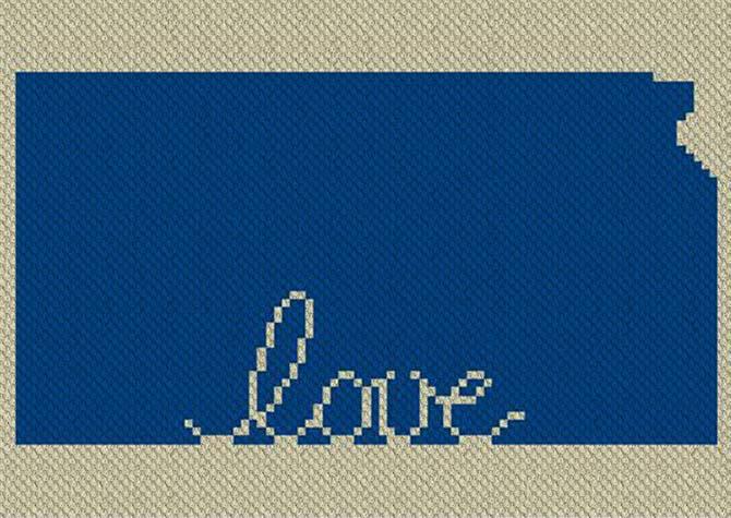 Kansas Love C2C Afghan Crochet Pattern