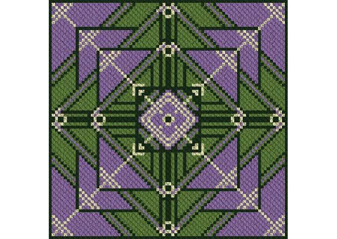 Lupines Garden C2C Crochet Pattern
