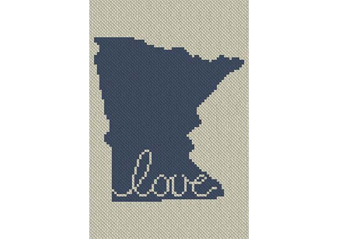 Minnesota Love C2C Crochet Pattern