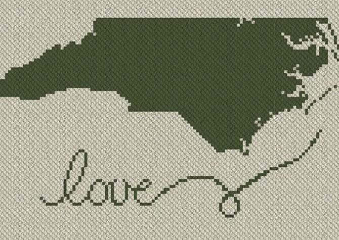 North Carolina Love C2C Afghan Crochet Pattern
