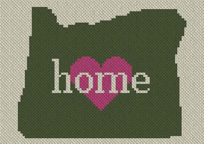 Oregon Home C2C Afghan Crochet Pattern
