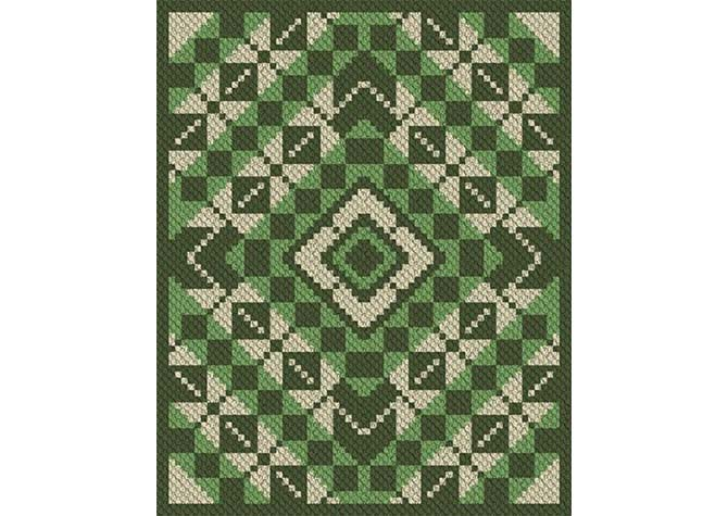 Patty Pans Argyle C2C Crochet Pattern
