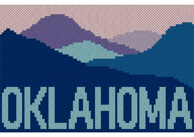 Go to the Mountains of Oklahoma Counted Crochet Pattern