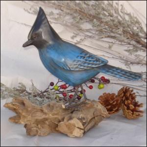 Stellar's jay Bird Handmade Woodcraft