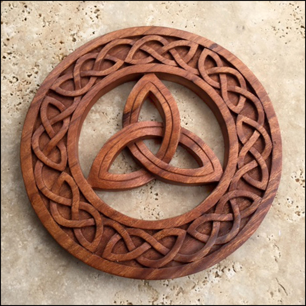 Ck celtic knot trifecta in circle viking