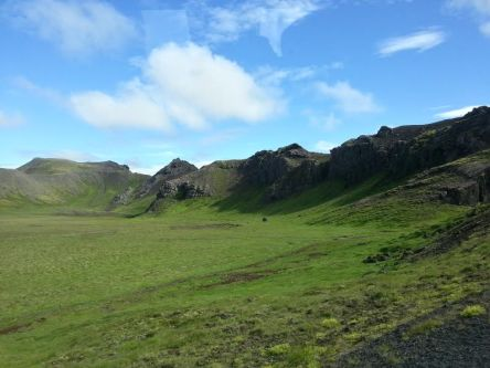 The Icelandic landscape with all its clean beauty
