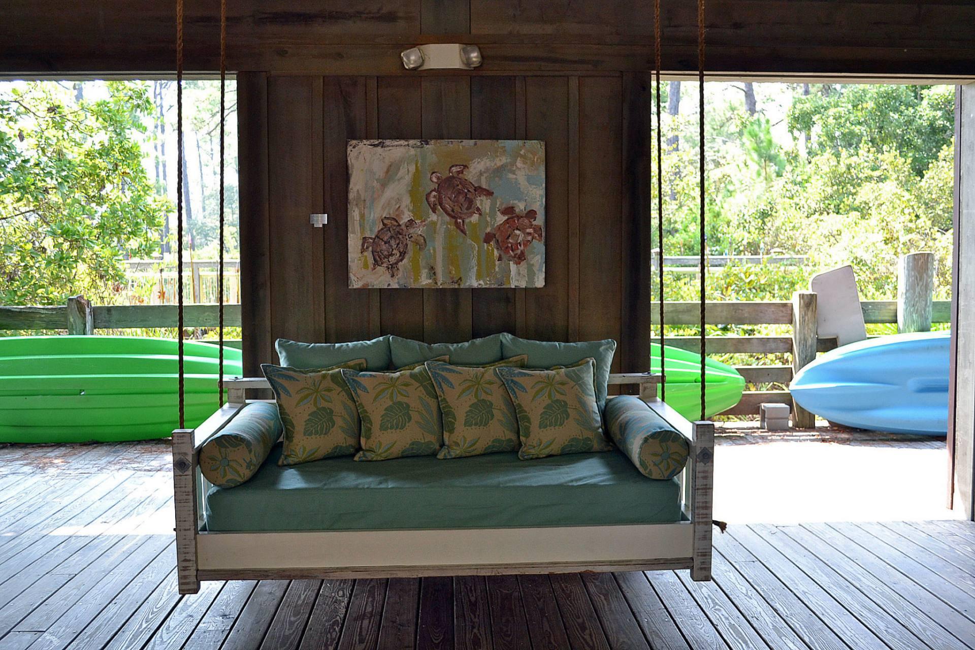 Coastal Porch Swing Bed