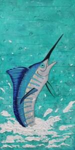 splashing marlin