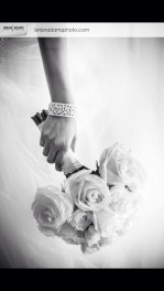 White garden rose, standard rose and spray rose bridal bouquet - Bryan Adams Photography