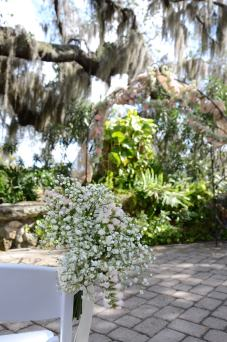 Floral from your aisle can be repurposed to your reception tables