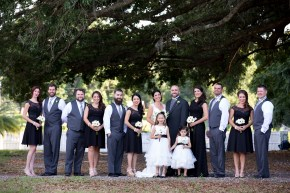 Bridal party at Highland Manor in Willy Wonka style attire - Bluegrass Chic Floral