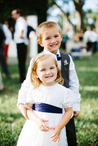Adorable junior attendants, flower girl and ring bearer