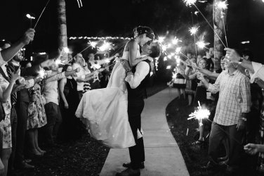Sparkler exit of bride and groom