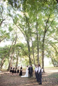 Outdoor wedding ceremony in the forest - Bluegrass Chic Floral