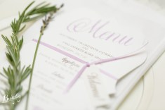 Stationary by Dogwood Blossom Stationary with sprigs of rosemary and lavender