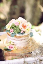 Melissa Enid Photography - Bluegrass Chic Floral, Naked Cake by Everything Cake