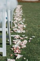 Outside of the Eagle Creek Golf Club where we placed blush and ivory Standard Rose petals down the aisle.