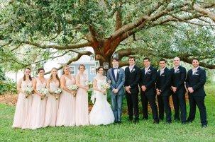 Classic wedding party photo.