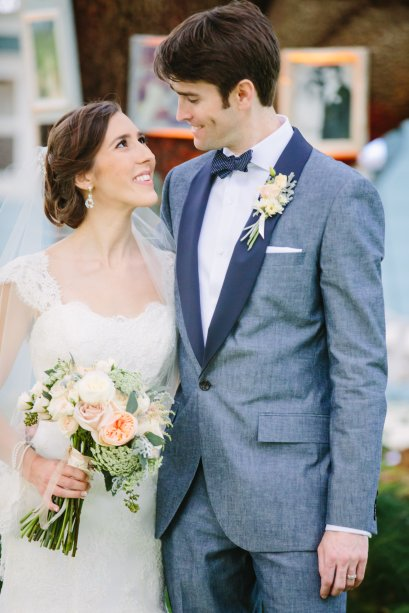 Gorgeous bride and her handsome groom.