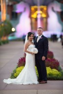 Bride and Groom at Swan and Dolphin Hotel