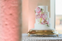 Cake floral to compliment the Bride's peony and ranunculus bouquet.