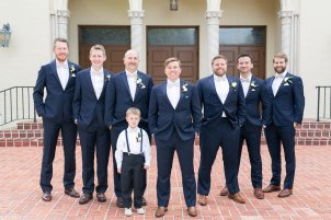 Classic suits for the Groom and his men in navy.