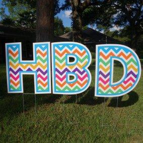 Happy Birthday - multi-chevron