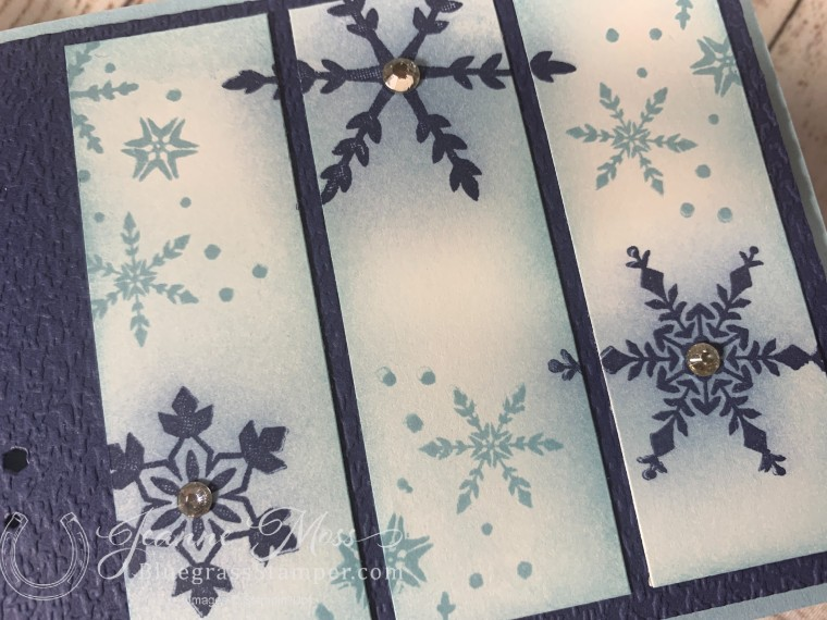 Snowflake Wishes Stamped Panel