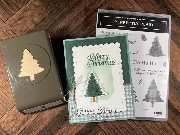 Perfectly Plaid Christmas Card with Stamp Set and Punch
