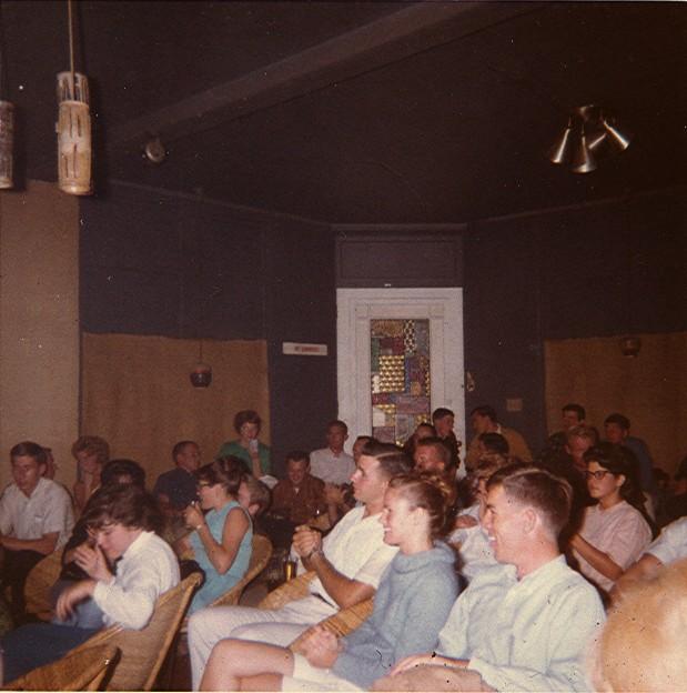 Clean-cut collegiate customers at the Rondo, 1962