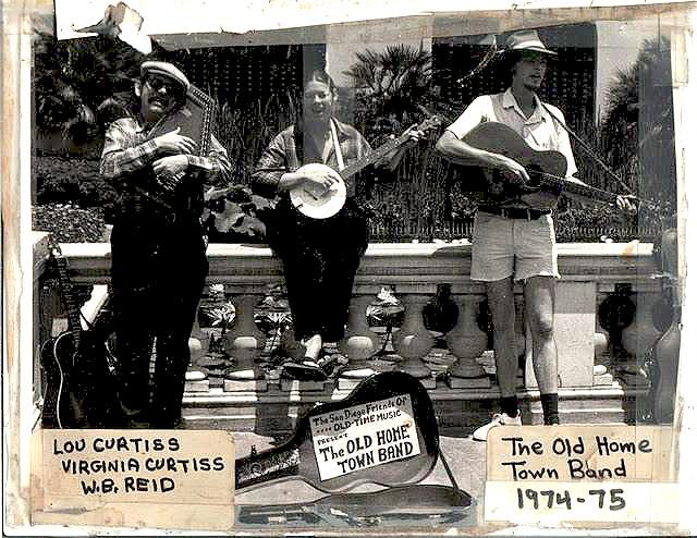 Lou Curtiss, Virginia Curtiss, and WB Reid San Diego Folk Festival