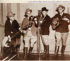 An early version of Bill Monroe's band, The Blue Grass Boys.