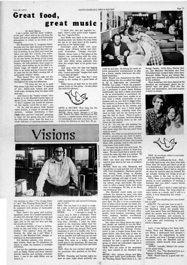 Bluebird article June 1972