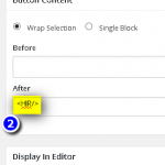 WP: Visual Editor Custom Button