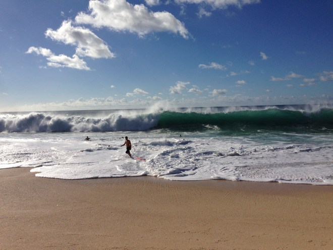Swell in full force